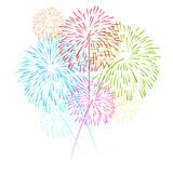 Fireworks on white background vector illustration Royalty Free Stock Image