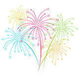 Fireworks on white background vector illustration Stock Photo