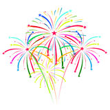Fireworks on white background vector illustration Stock Photos