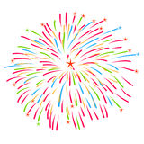 Fireworks on white background vector illustration Royalty Free Stock Photo
