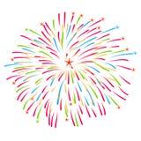 Fireworks on white background vector illustration vector illustration