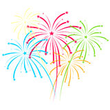 Fireworks on white background vector illustration Stock Images