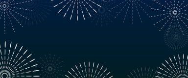 Fireworks white color and celebration background royalty free illustration