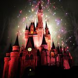Fireworks wishes. Cinderella's castle fireworks Stock Images