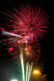 Fireworks. The wonderful firework in new year celebration Stock Photography