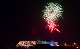 Fireworks at WTC Islamabad! royalty free stock photography