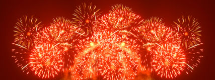 Fireworks xxl. Fireworks - wide xxl sized image Royalty Free Stock Photos