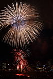 Fireworks at Yokohama, Japan Royalty Free Stock Images
