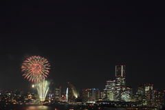 Fireworks at Yokohama Royalty Free Stock Photo