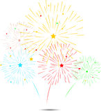 Fireworks for you design. Illustration of fireworks for you design Stock Image