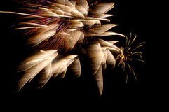 Fireworks3. Streaming, windblown Fireworks Royalty Free Stock Photo