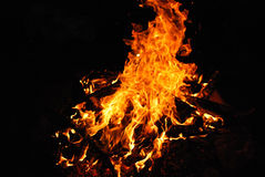 Firey flames Stock Images