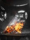 Firey modlitwa w Taoistycznej świątyni, George Town Fotografia Royalty Free