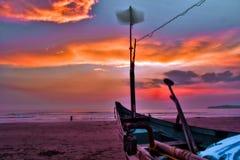 Firey solnedgång royaltyfri bild