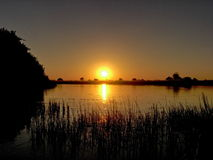 Firey Sonnenuntergang Lizenzfreies Stockfoto