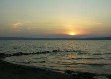 Firey Sunrise. Sunrise at the Bolsena lake Royalty Free Stock Photo