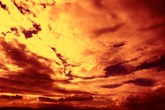 Firey sunset Stock Photos