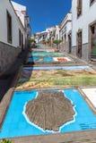 Firgas, Gran Canaria. Paseo de Canarias in Firgas, a tourist attraction Stock Photos