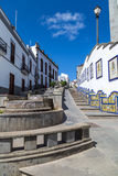 Firgas, Gran Canaria. Paseo de Gran Canaria in Firgas, a tourist attraction Royalty Free Stock Image
