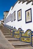 Firgas, Gran Canaria. Paseo de Gran Canaria in Firgas, a tourist attraction stock image