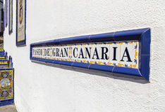 Firgas, Gran Canaria. Paseo de Gran Canaria in Firgas, a tourist attraction Stock Images