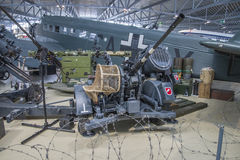 German anti aircraft gun battery Royalty Free Stock Photos