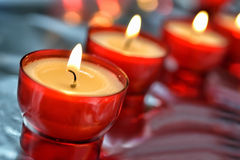Firing candle Stock Photos