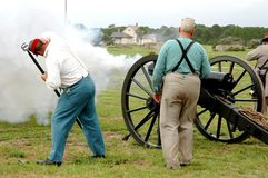 Firing of Cannon Royalty Free Stock Image