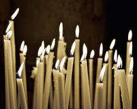 Firing church candles Stock Image