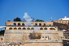 Firing the Noon Gun, Valletta, Malta. Stock Image