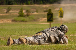 Firing Range. US Army soldier shooting at a firing range Royalty Free Stock Image