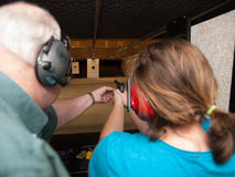 Firing Range Instruction Stock Images