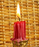 Firing red candle Stock Photo