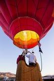 Firing up the Balloon Stock Photo