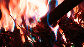 Firing wire in fire Stock Photos