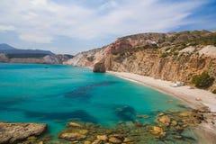 Firiplaka beach, Milos Island, Cyclades, Aegean, Greece Stock Images