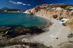 Firiplaka plaża Milos Cyclades wyspy Grecja Zdjęcia Royalty Free
