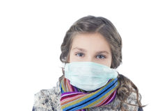 Firl with facial mask Royalty Free Stock Photography