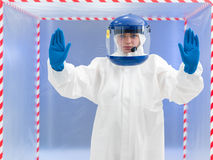 Firm advisement regarding contamination Stock Image