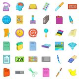 Firm association icons set, cartoon style. Firm association icons set. Cartoon set of 36 firm association vector icons for web isolated on white background Royalty Free Stock Photos