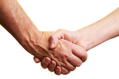 Firm handshake Stock Photography