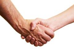 Firm handshake Stock Photography