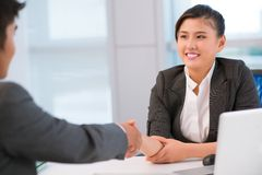 Firm handshake Stock Image