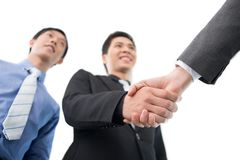 Firm handshake Royalty Free Stock Photos