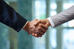 Firm Handshake of Business Partners stock photography