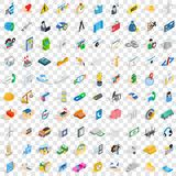 100 firm icons set, isometric 3d style Stock Photo