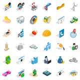 Firm icons set, isometric style. Firm icons set. Isometric style of 36 firm vector icons for web isolated on white background Stock Photography