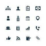Firm ikony ustawiać Obrazy Stock