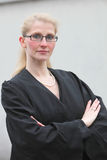 Firm lawyer. With arms folded and Robe Royalty Free Stock Images