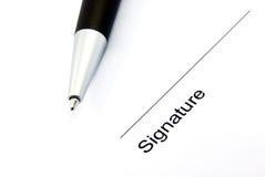 Firma 1 Fotografía de archivo libre de regalías